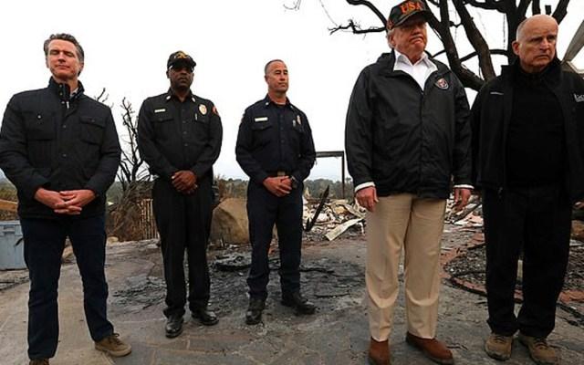 #Video Trump cambia por error nombre de localidad consumida por incendio - Foto de Reuters