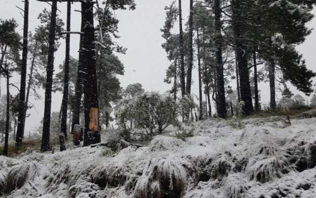 Nevada afecta zona del Nevado de Toluca