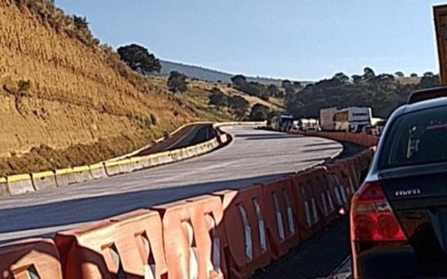 Cierran parcialmente la autopista México-Puebla - accidente autopista méxico-puebla