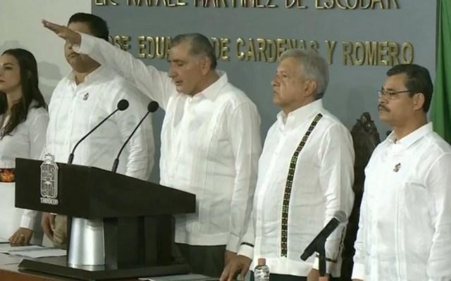 AMLO atestigua toma de protesta del nuevo gobernador de Tabasco - Foto de @EnfoqueNoticias