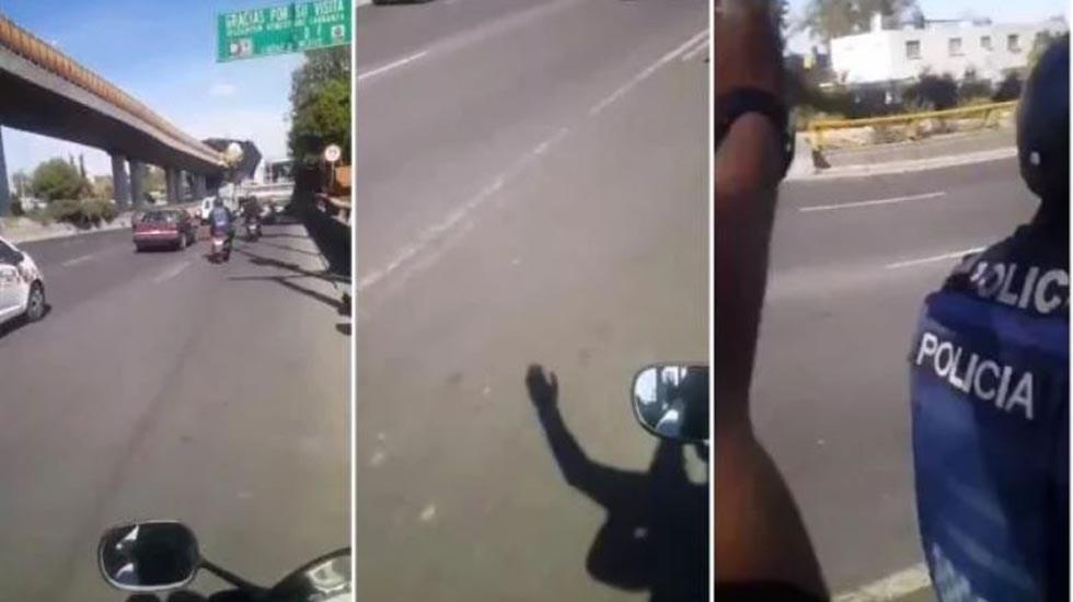 #Video Pareja de motociclistas agrede a policías en la CDMX - Agresión a policías de la CDMX. Foto Especial