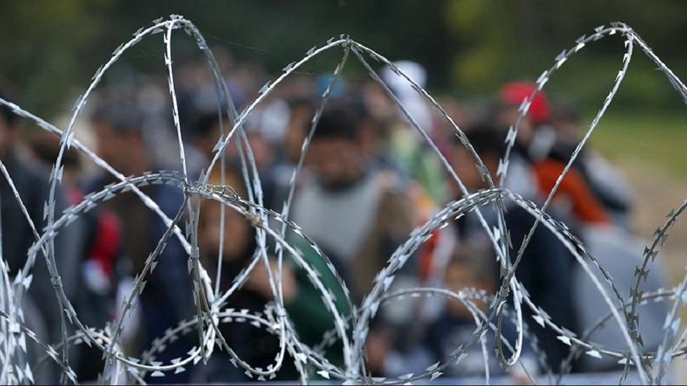 Alambre de espino en frontera de Hungría. Foto de Internet
