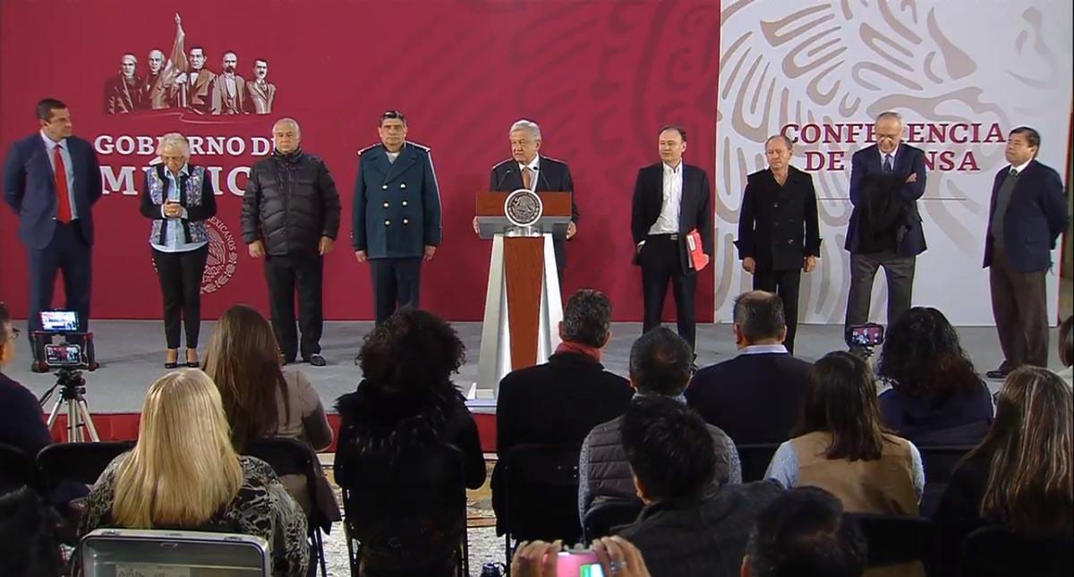 AMLO estuvo acompañado de su Gabinete de Gobierno. Captura de pantalla