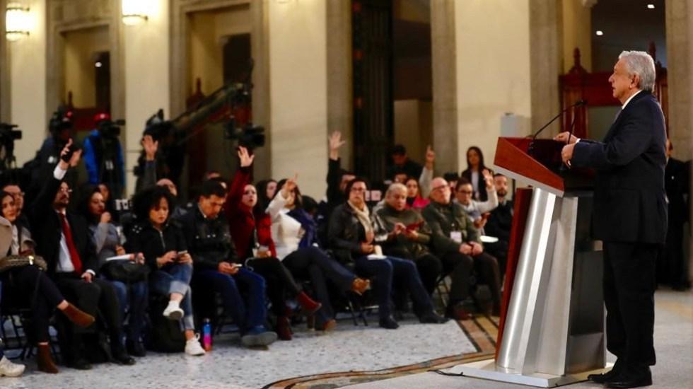 AMLO sostiene reunión con superdelegados en Palacio Nacional - AMLO en Palacio Nacional. Foto de @JesusRCuevas