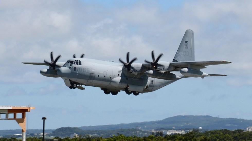 Aviones militares de EE.UU. chocan en Japón - KC-130, modelo de uno de los aviones que chocaron en Japón. Foto de AFP / JIJI PRESS