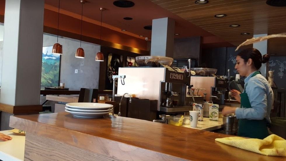 Barra de preparación de cafés en Starbucks. Foto de Cristian Ayala