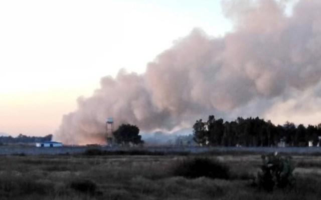 Se incendia pastizal en la Base de Santa Lucía - Santa Lucía