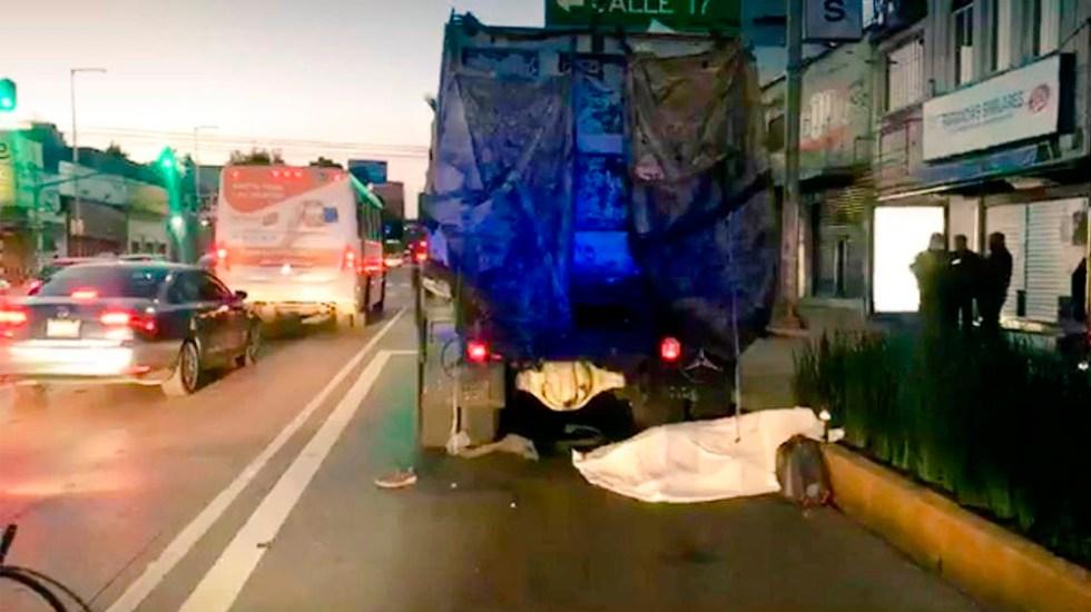 Ciclista muere atropellado en Avenida Revolución - Foto de @israellorenzana