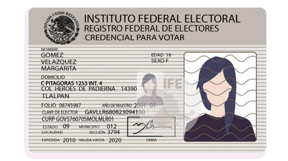 Aprueban proyecto para nueva credencial de elector - Foto de INE