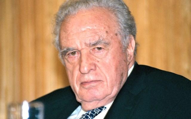 Familia de Julio Scherer declina aceptar la Medalla Belisario Domínguez - Julio Scherer García. Foto: Francisco Daniel-Proceso.