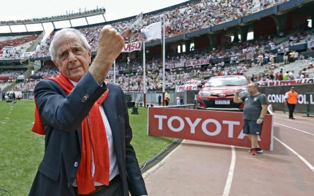 River rechaza cambio de sede a Madrid para final de la Libertadores - Rodolfo D'Onofrio, presidente de River Plate. Foto de AFP
