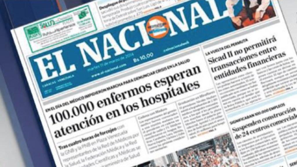 El Nacional de Venezuela dejará de imprimirse este viernes - cierra el nacional