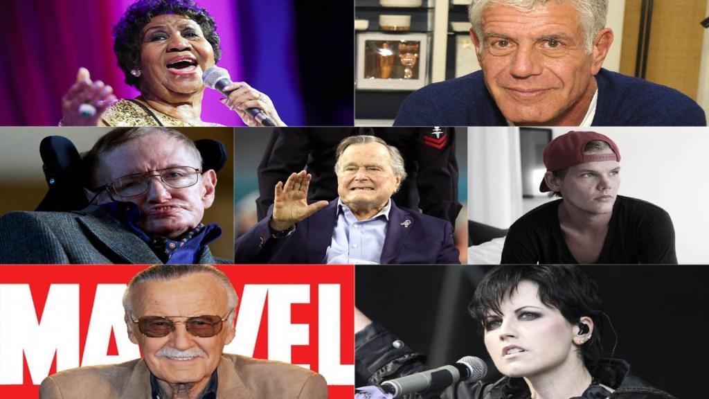 Las personalidades que murieron en 2018 - Algunos de los cantantes, chefs, músicos, cineastas y ex presidentes que murieron en 2018. Foto de Internet