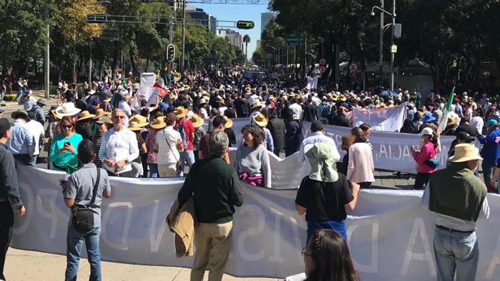 Las movilizaciones de este miércoles en la Ciudad de México. Noticias en tiempo real