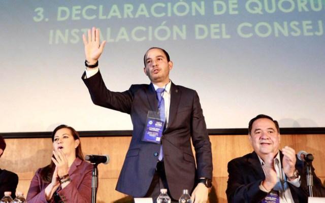 "Pide PAN a AMLO a no polarizar ""con discursos de odio"" - Marko Cortés, dirigente nacional del PAN. Foto de @AccionNacional"