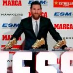 Messi recibe su quinta Bota de Oro - Foto de @LaLiga