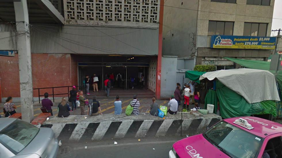 Persona cae a vías del Metro Portales - Captura de pantalla Google Maps