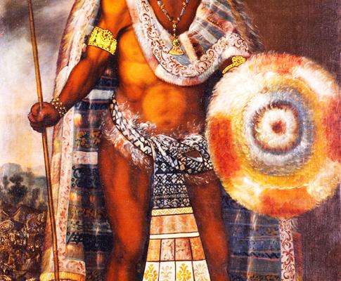 El gobierno de Motecuhzoma antes de la Conquista - Retrato de Motecuhzoma atribuido a Antonio Rodríguez. Siglo XVII.
