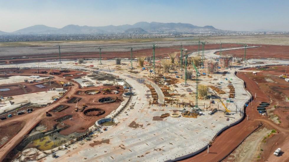 Cancelación del NAIM costaría a cada mexicano más de 3 mil pesos - Construcción del NAIM. Foto de Bloomberg