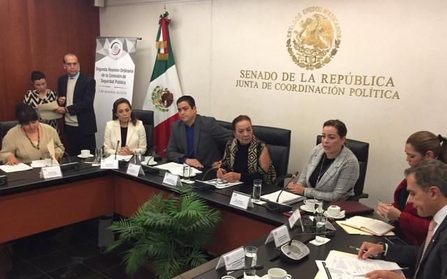 Nestora anuncia que está listo el censo de los llamados presos políticos - Nestora Salgado en la Junta de Coordinación Política del Senado. Foto de @nestora_salgado
