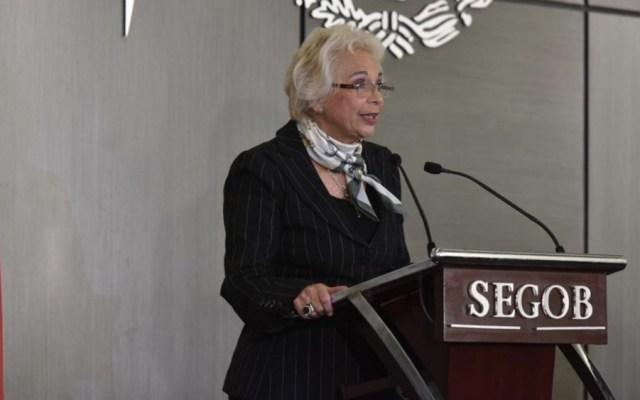 Nadie está acusado de ser preso político: Sánchez Cordero - Foto de @SEGOB_mx