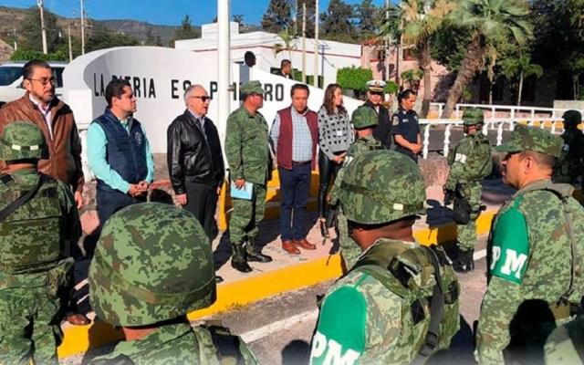 Pasan revista a militares que se unirán a la Guardia Nacional - Pase de revista a militares en Guerrero. Foto de @sspguerrero