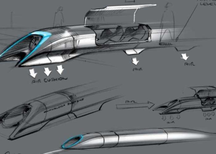 Proyecto del Hyperloop. Foto de Hyperloop One