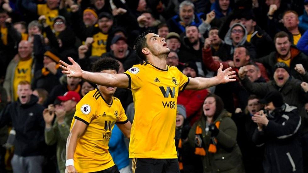 #Video Raúl Jiménez anota en victoria de los Wolves sobre el Chelsea - Raúl Jiménez festeja anotación