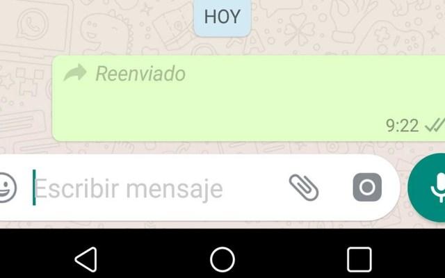 WhatsApp limita función en favor de la privacidad - Reenvío de mensajes en WhatsApp. Foto de Internet