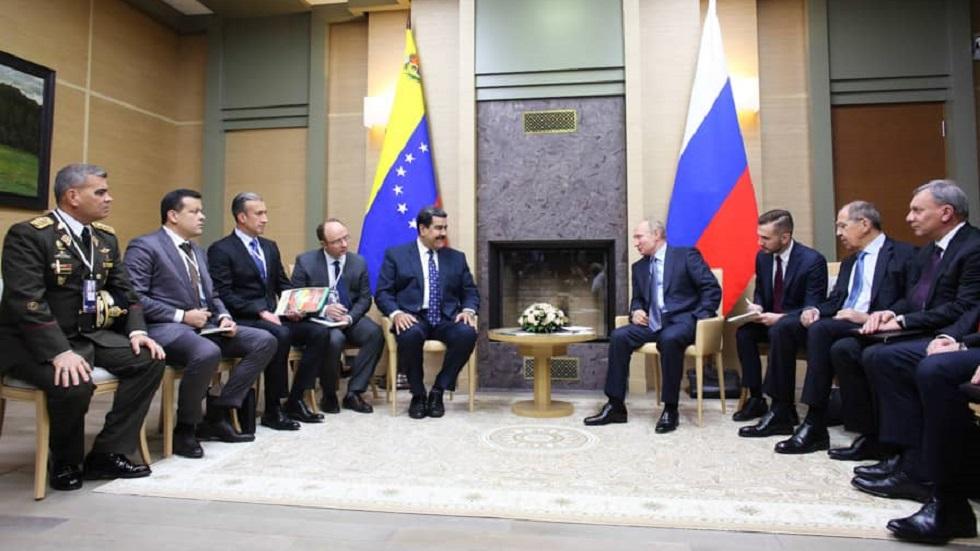Reunión entre Nicolás Maduro y Vladimir Putin en Rusia. Foto de @PresidencialVen