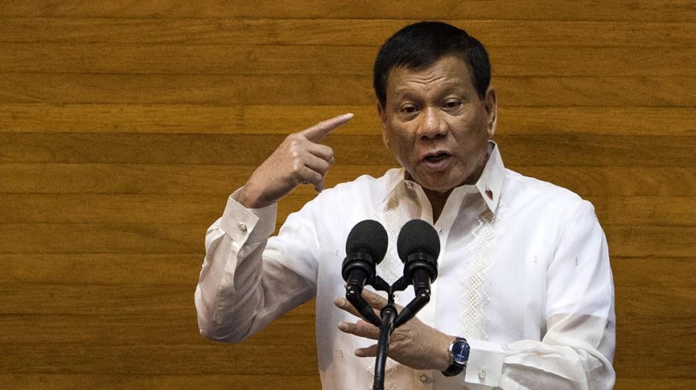 Rodrigo Duterte llama a matar obispos católicos - Foto de AFP