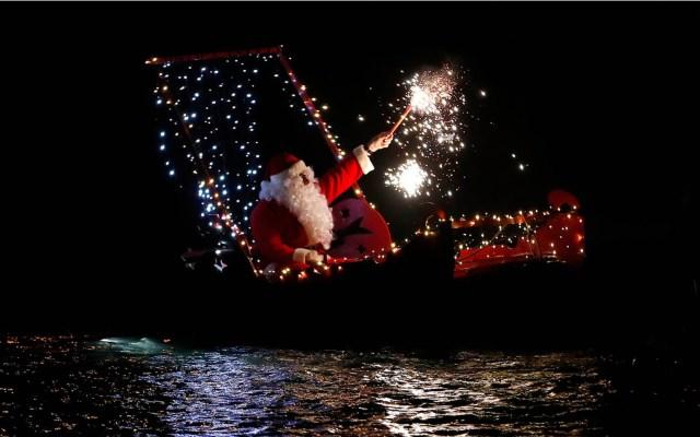 Así pasan la Navidad en todo el mundo - Santa en Imperia, Italia. Foto de Internet