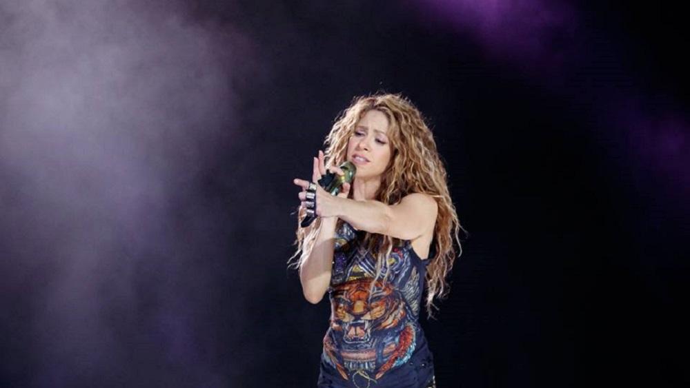 Shakira en concierto en Bogotá. Foto de @shakira