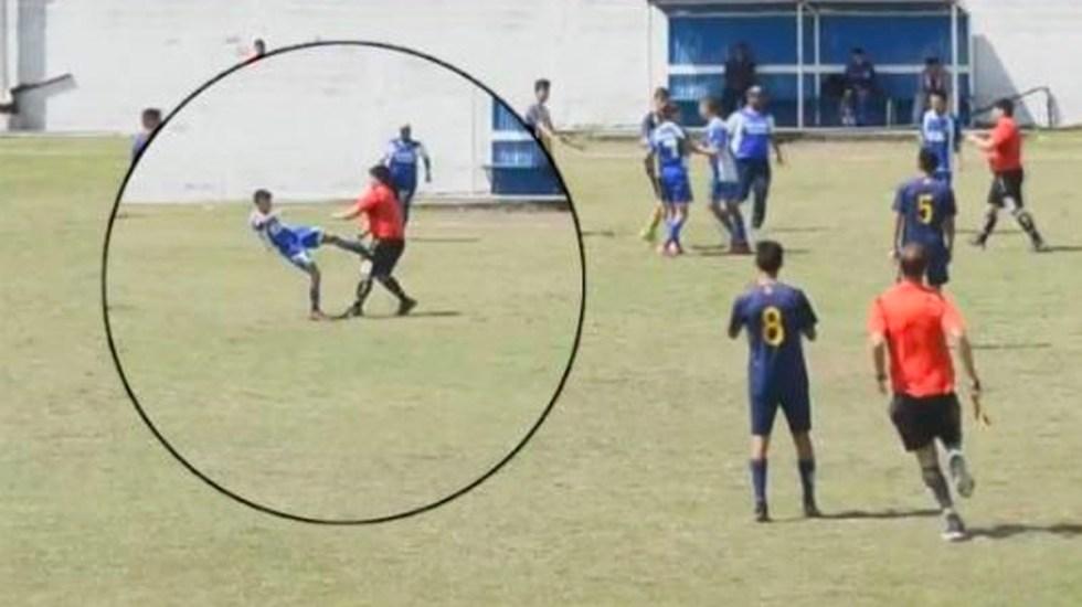 #Video Batalla campal en partido de liga amateur de Argentina - Foto de Twitter