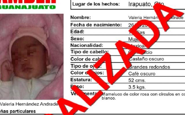 Recuperan a bebé robada que desató intento de linchamiento - Desactivación de Alerta Amber de bebé raptada en Irapuato. Foto de @AAMBER_gto