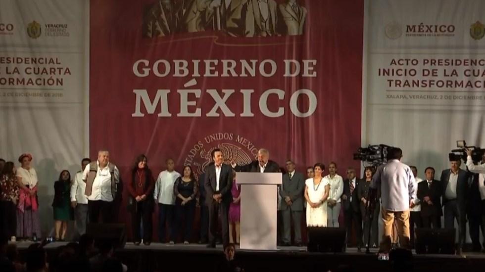 AMLO inicia mitin en Veracruz