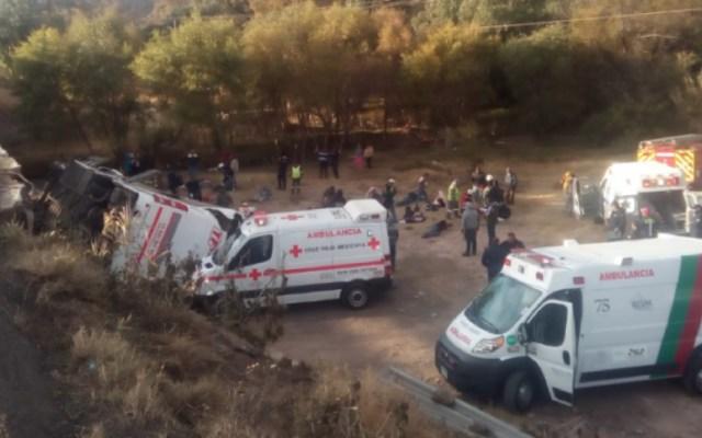 Volcadura de autobús en San Luis Potosí deja siete muertos - volcadura autobús san luis potosí