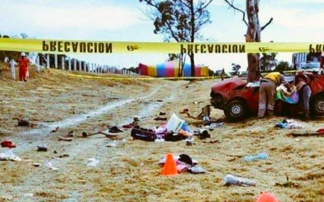 Volcadura en la México-Pachuca deja tres muertos y dos heridos - Foto de Twitter