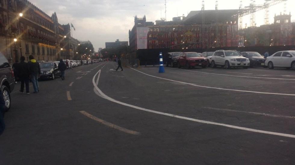 Legisladores de Morena se estacionan en el Zócalo - Legisladores de Morena se estacionan en el Zócalo