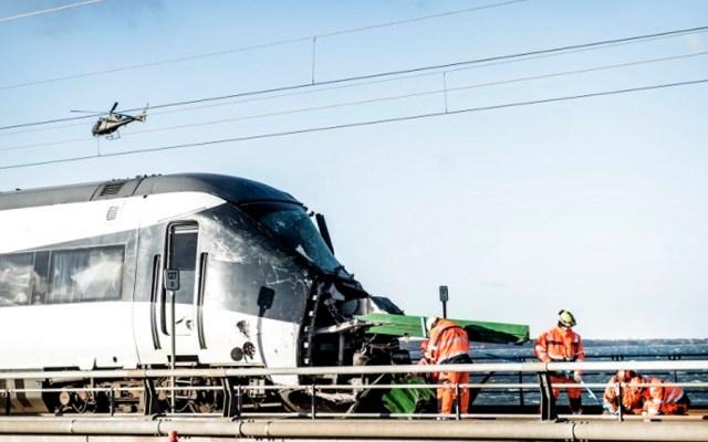 Suman ocho muertos tras accidente de tren en Dinamarca - Foto de AFP