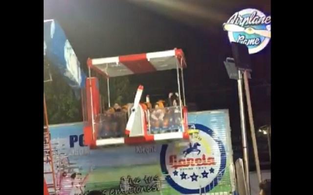 #Video Juego mecánico se sale de control en Feria de León - Juego mecánico descompuesto en León. Captura de pantalla