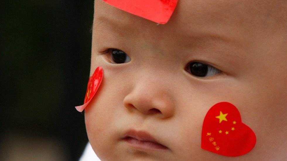 China aumenta su población tras eliminar política del hijo único - Bebé chino. Foto de Internet