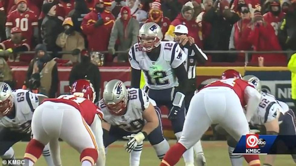 NFL investiga uso de láseres contra Tom Brady - Tom Brady láser kansas city