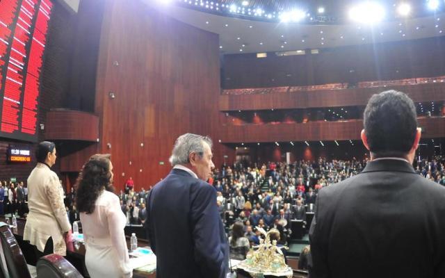 Recepción dividida de la aprobación de la Guardia Nacional - Cámara de Diputados. Foto de Facebook/Cámara de Diputados.