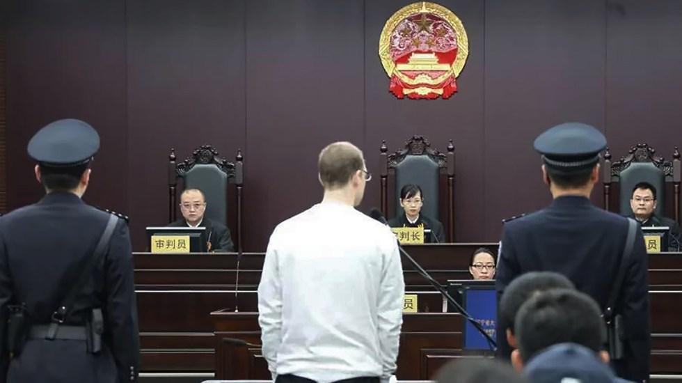 China da pena de muerte a canadiense acusado de tráfico de drogas - Foto de AFP