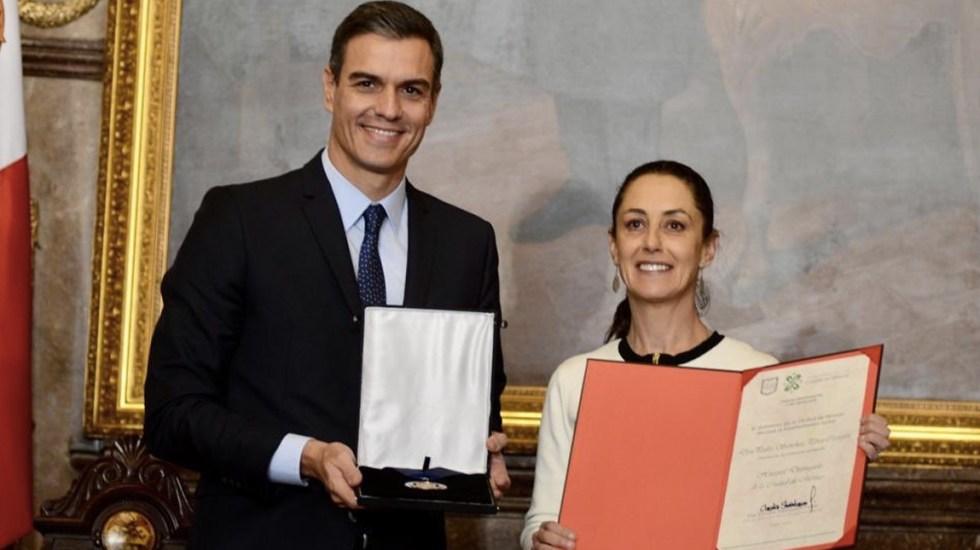 Sheinbaum nombra Huésped Distinguido a Pedro Sánchez - Foto de Twitter Claudia Sheinbaum