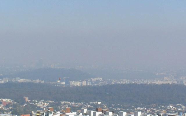 Piden extremar precauciones en Edomex y CDMX por contaminación - Contaminación en el Valle de México. Foto de @Aire_CDMX