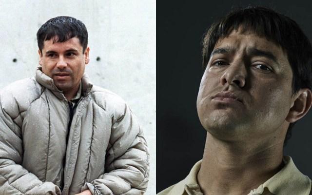 'El Chapo' sonríe al actor que lo interpreta en 'Narcos: México' - Foto de Internet