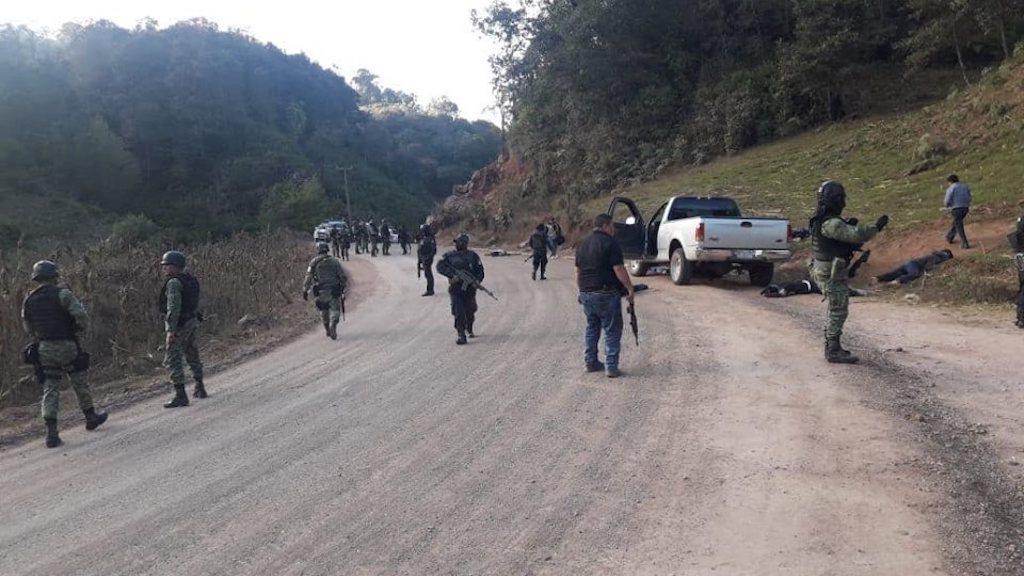 Enfrentamiento en Guerrero deja 10 muertos - Foto de Facebook/ Roberto Álvarez Heredia-Vocero de Seguridad de Guerrero.