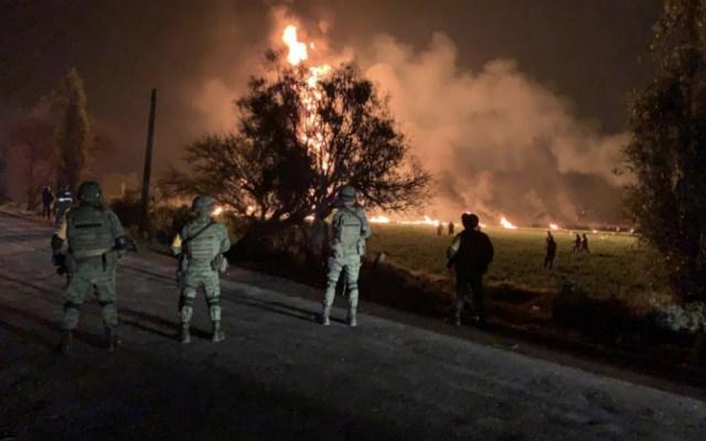 Senado deslinda al Ejército de tragedia en Tlahuelilpan - Foto de Sedena/AFP